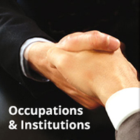 occupations and institutions