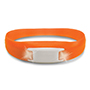 Pulse Bracelet - Orange w/ White LEDs thumbnail