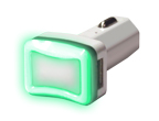 Dual USB Car Charger - Green thumbnail