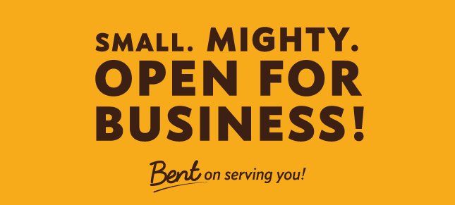small mighty open for business no co